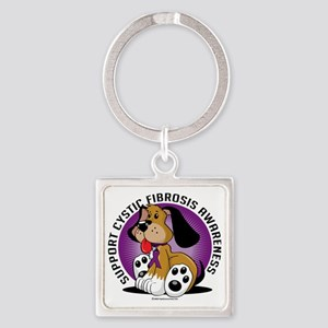 Cystic-Fibrosis-Dog Square Keychain