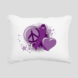 Cystic-Fibrosis-PLC-blk Rectangular Canvas Pillow