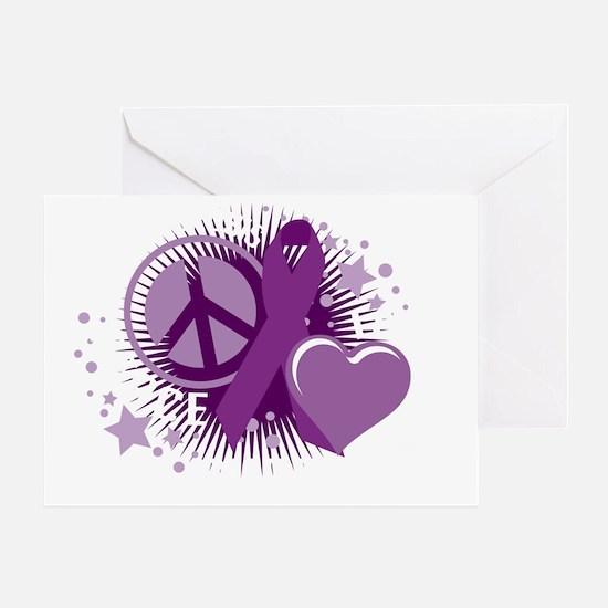 Cystic-Fibrosis-PLC-blk Greeting Card