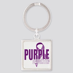 Cystic-Fibrosis-Purple-for-DAUGHTE Square Keychain