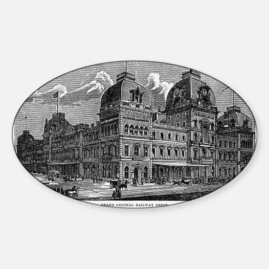 ny grand centrak Sticker (Oval)