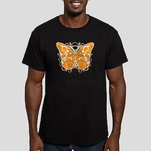 Leukemia-Butterfly Men's Fitted T-Shirt (dark)
