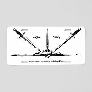 moorish daggers Aluminum License Plate