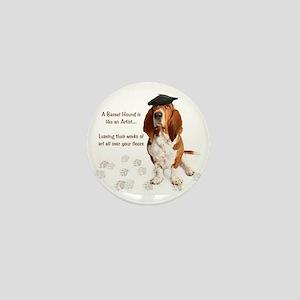 Basset Hound Artist Mini Button