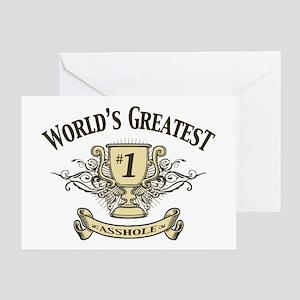 ahole-trophy-LTT Greeting Card