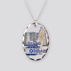 Israel I STAND WITH Necklace Oval Charm