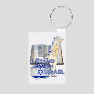 Israel I STAND WITH Aluminum Photo Keychain