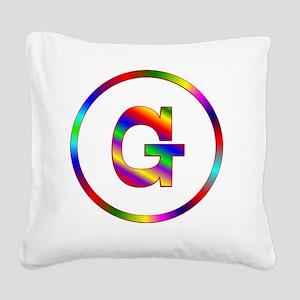 2-G Square Canvas Pillow