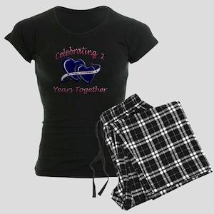 celebrating heart 2 Women's Dark Pajamas
