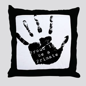 PrimatePride_black Throw Pillow