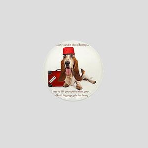Basset Hound Bellhop Mini Button