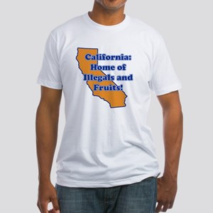 Home of illegals and fruit Fitted T-Shirt