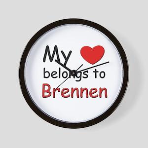 My heart belongs to brennen Wall Clock