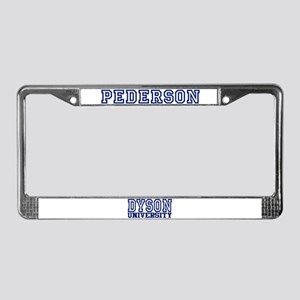PEDERSON University License Plate Frame