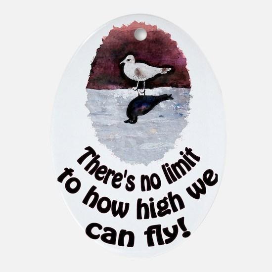 seagull jonathan Oval Ornament