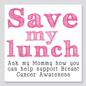 """Save-My-Lunch-1 Square Car Magnet 3"""" x 3"""""""