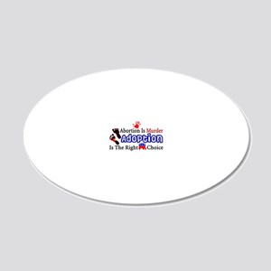 Abortion Is Murder 20x12 Oval Wall Decal