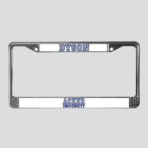 DYSON University License Plate Frame