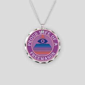 wifemasonnosc Necklace Circle Charm