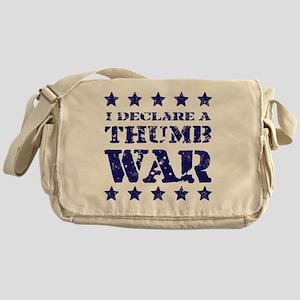 Thumb War Blue Messenger Bag
