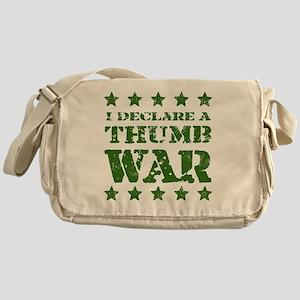Thumb War Green Messenger Bag