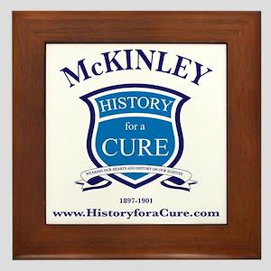 William MCKINLEY 25 TRUMAN dark shirt Framed Tile
