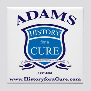 JOHN ADAMS 2 TRUMAN dark shirt Tile Coaster
