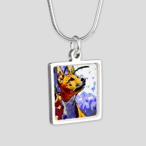 kiwione 10 Silver Square Necklace
