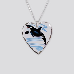 Orca Splash Trans Necklace Heart Charm