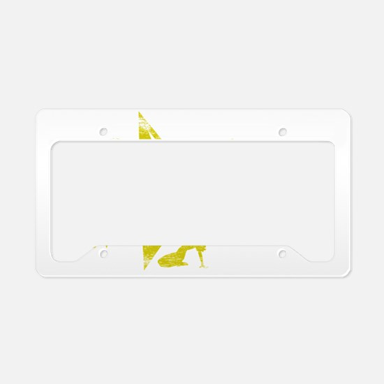 2-KINDERGARTEN WHT License Plate Holder