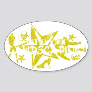 LANDSCAPING WHT Sticker (Oval)
