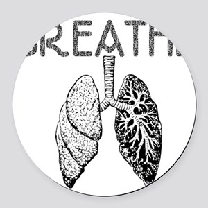 BREATHE lungs Round Car Magnet