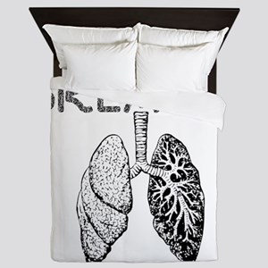 BREATHE lungs Queen Duvet