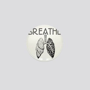 BREATHE lungs Mini Button