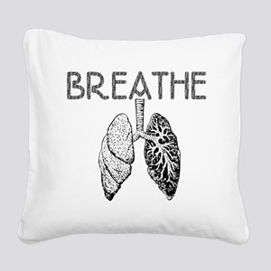 BREATHE lungs Square Canvas Pillow