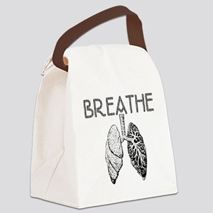 BREATHE lungs Canvas Lunch Bag