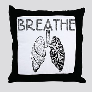 BREATHE lungs Throw Pillow