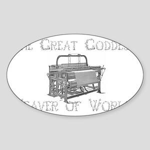 loom goddess Sticker (Oval)