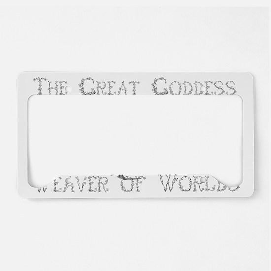 loom goddess License Plate Holder