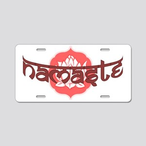 lotus-namaste Aluminum License Plate