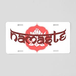 lotus-namaste Aluminum License Plate
