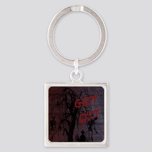 skeletons_GetOut copy Square Keychain