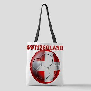 Switzerland Soccer Polyester Tote Bag