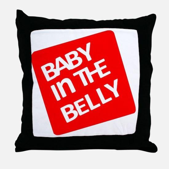 babyinthebellytest Throw Pillow