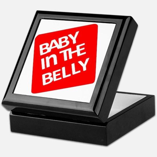 babyinthebellytest Keepsake Box