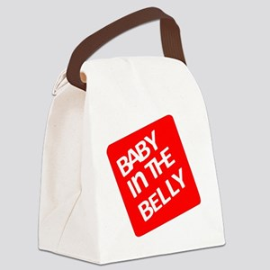 babyinthebellytest Canvas Lunch Bag