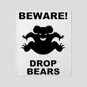 drop-bear-LTT Throw Blanket