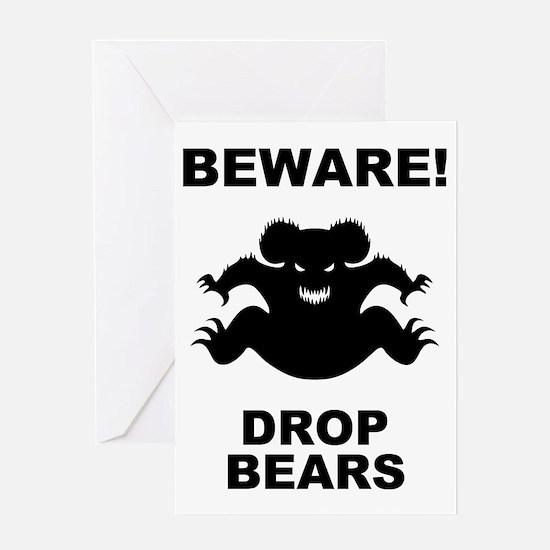 drop-bear-LTT Greeting Card