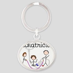 Pediatrician Oval Keychain