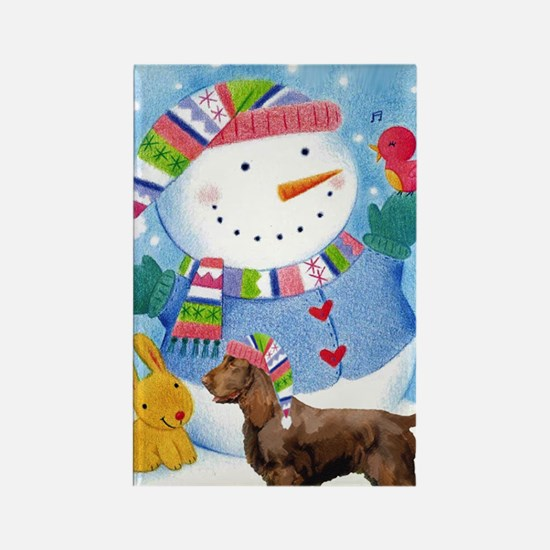 field spaniel greeting card xmas Rectangle Magnet